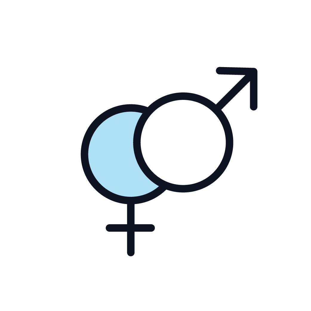 This is an icon representing a persons biological sex.