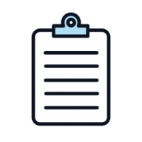 This is an icon representing paperwork in relations to claims.