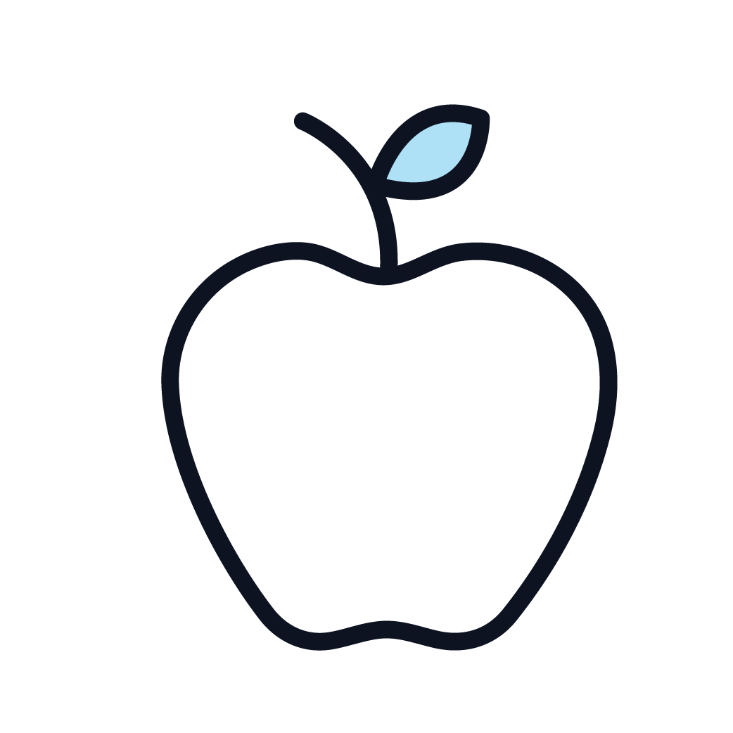 This is an image of an apple, symbolizing healthy eating.