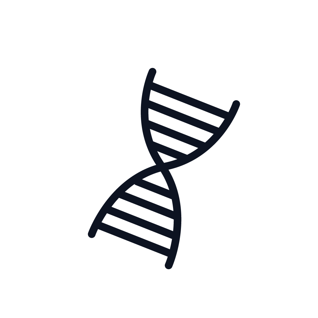This is an icon representing genetic factors.