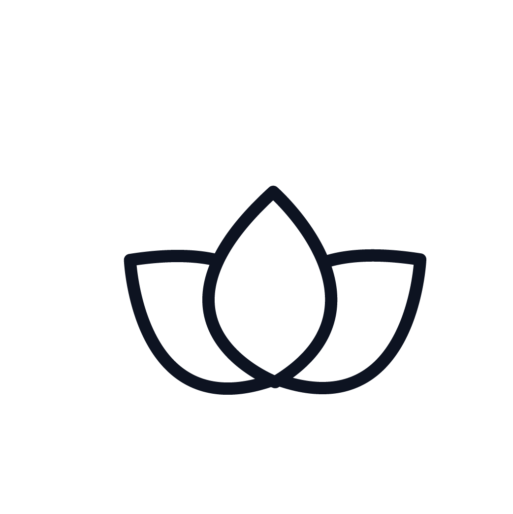 This is an icon representing meditation.