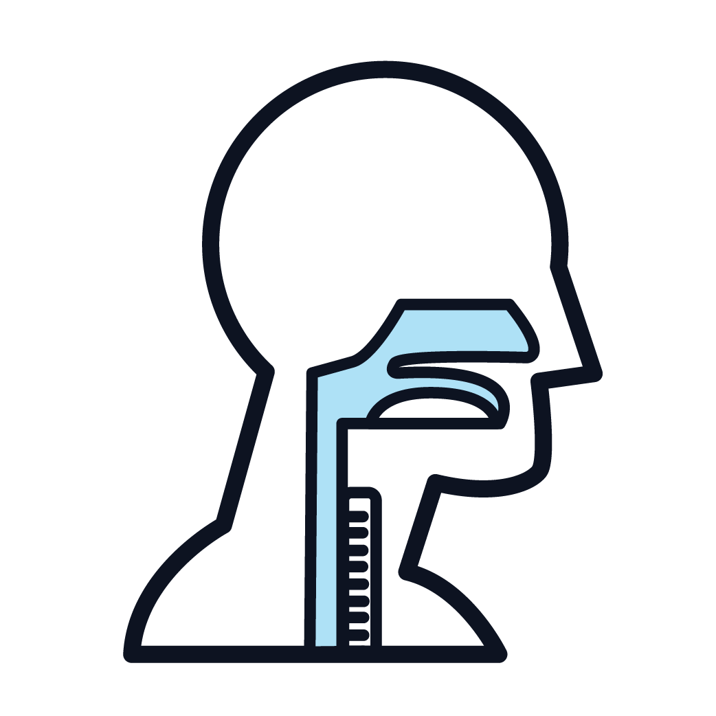 This is an icon representing pharyngeal cancer.