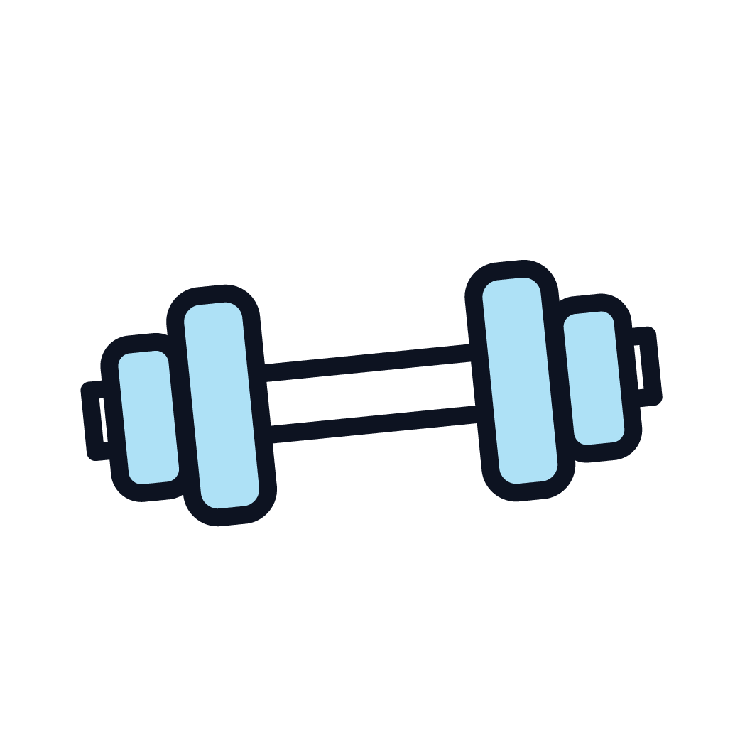 This is an image of weights, symbolizing physical exercise.