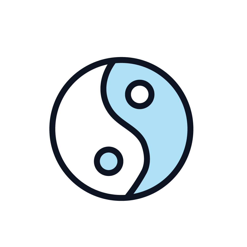 This is an icon representing tai chi quigong.