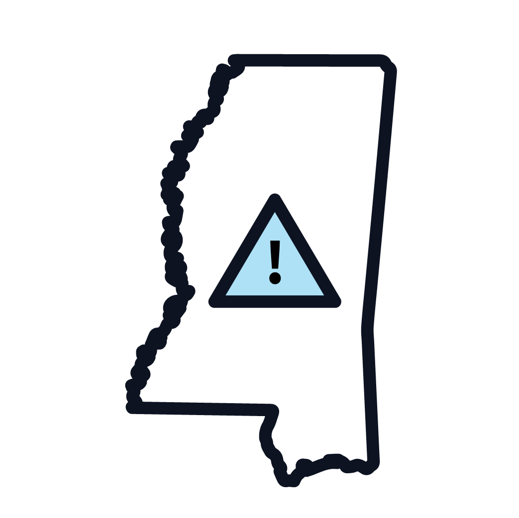 This is an icon representing Mississippi asbestos regulations.