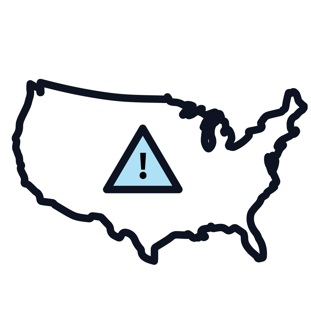 This is an icon representing national asbestos regulations.