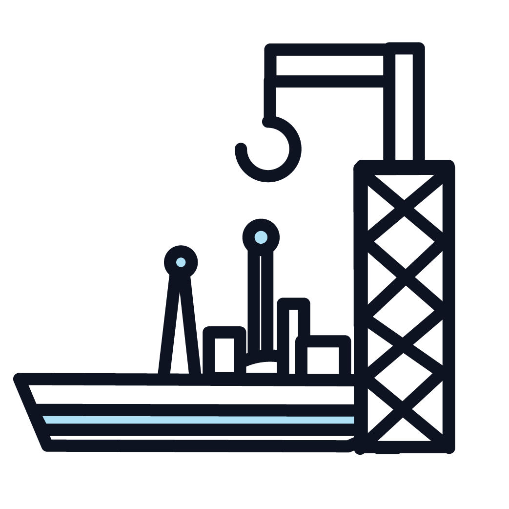 This is an image representing a shipyard.