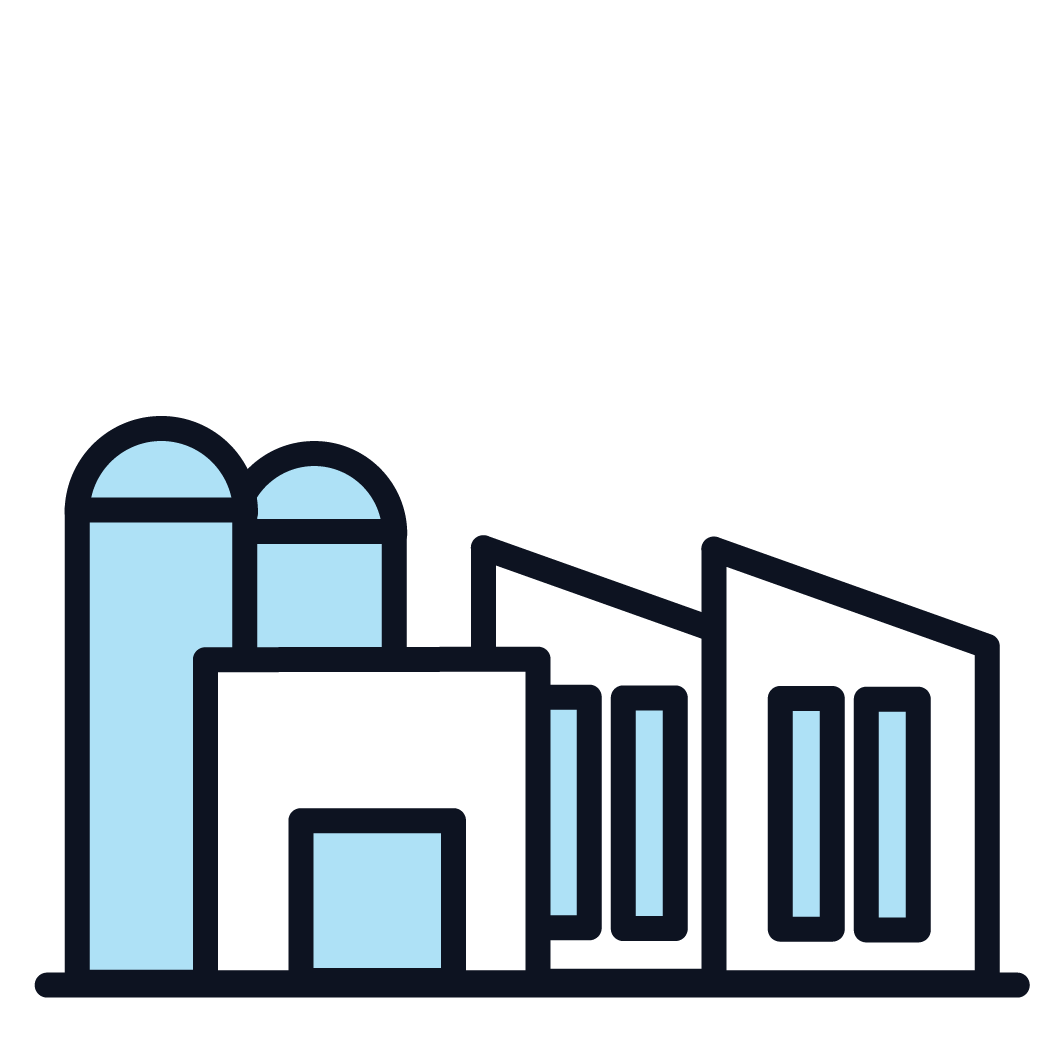 This is an image representing manufacturing buildings.