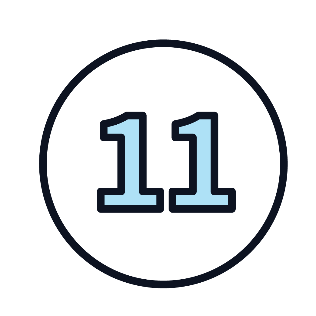 This is an icon of the number 11.