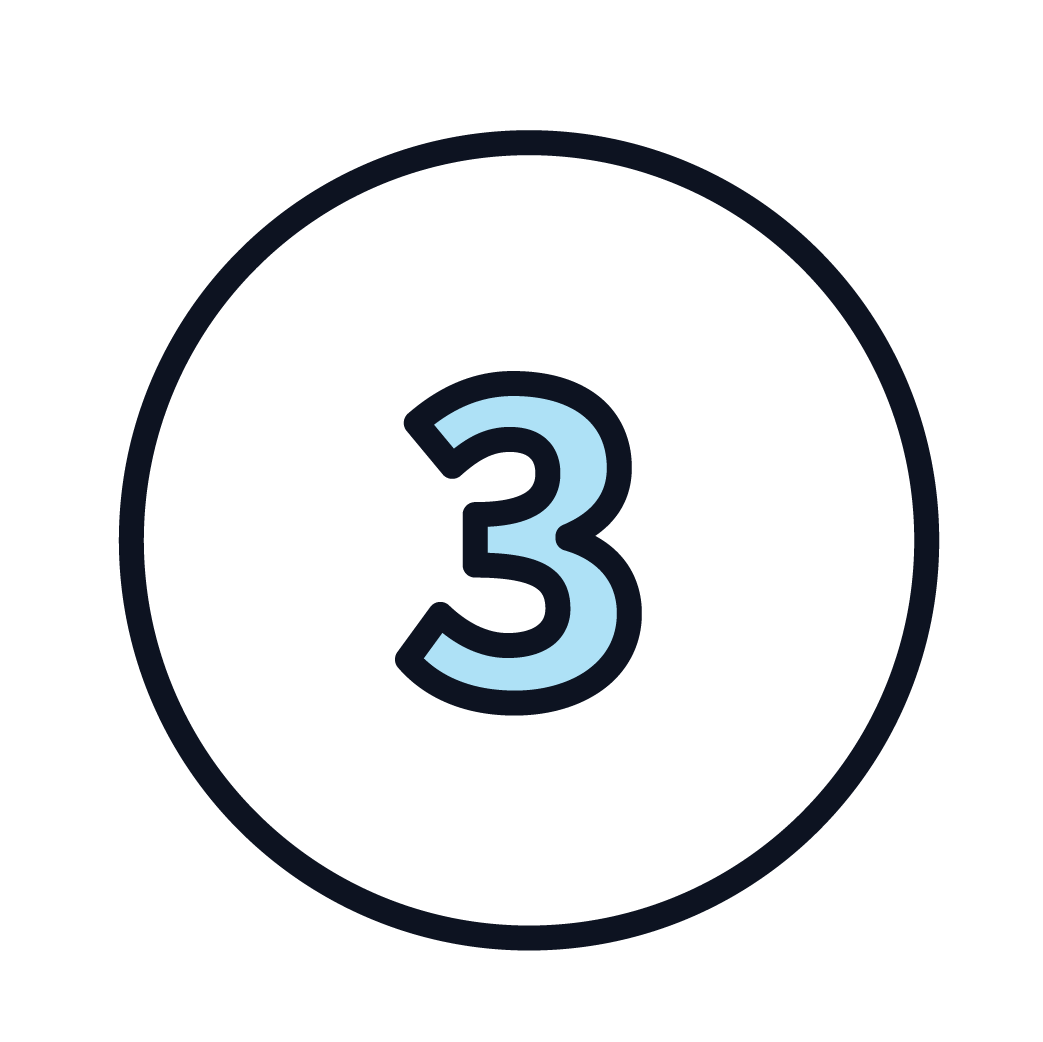 This is an icon of the number 3.