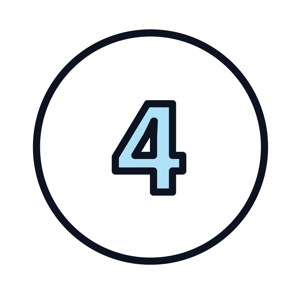 This is an icon of the number 4.