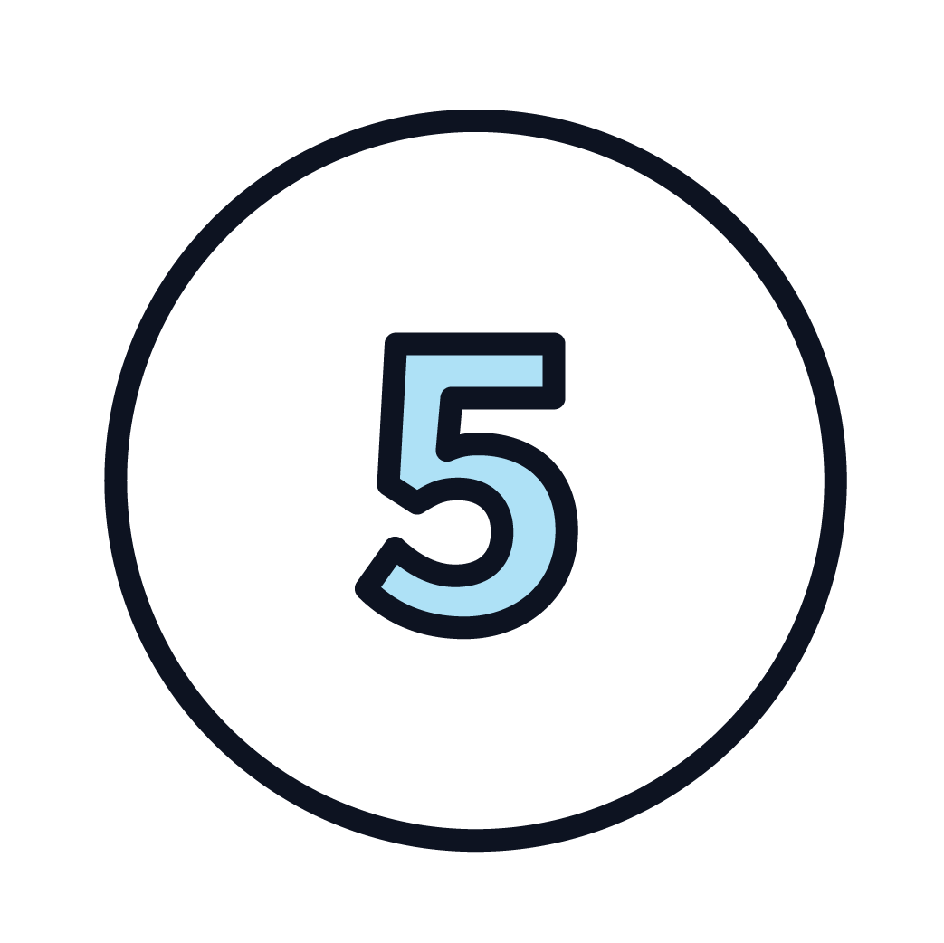This is an icon of the number 5.