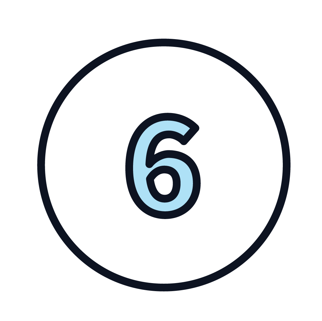 This is an icon of the number 6.