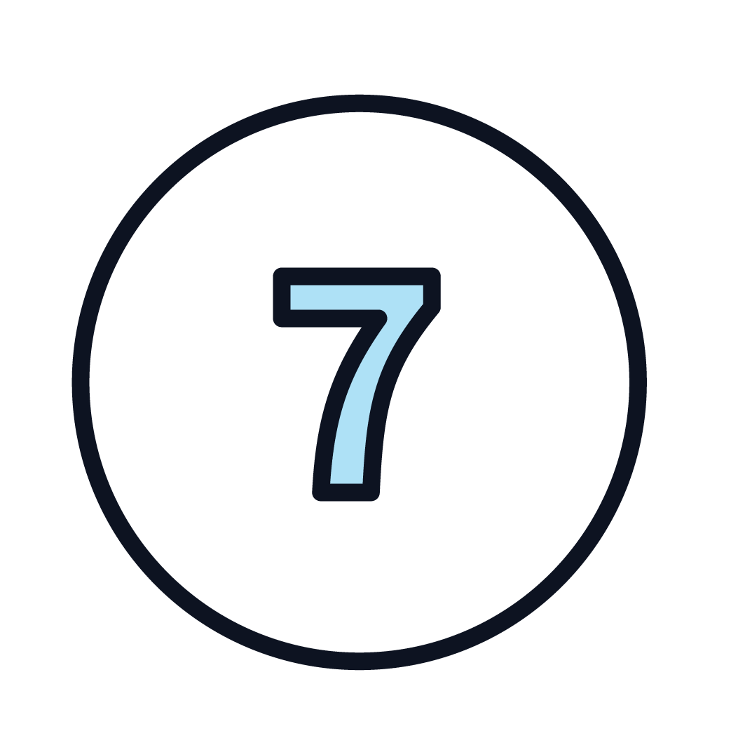 This is an icon of the number 7.