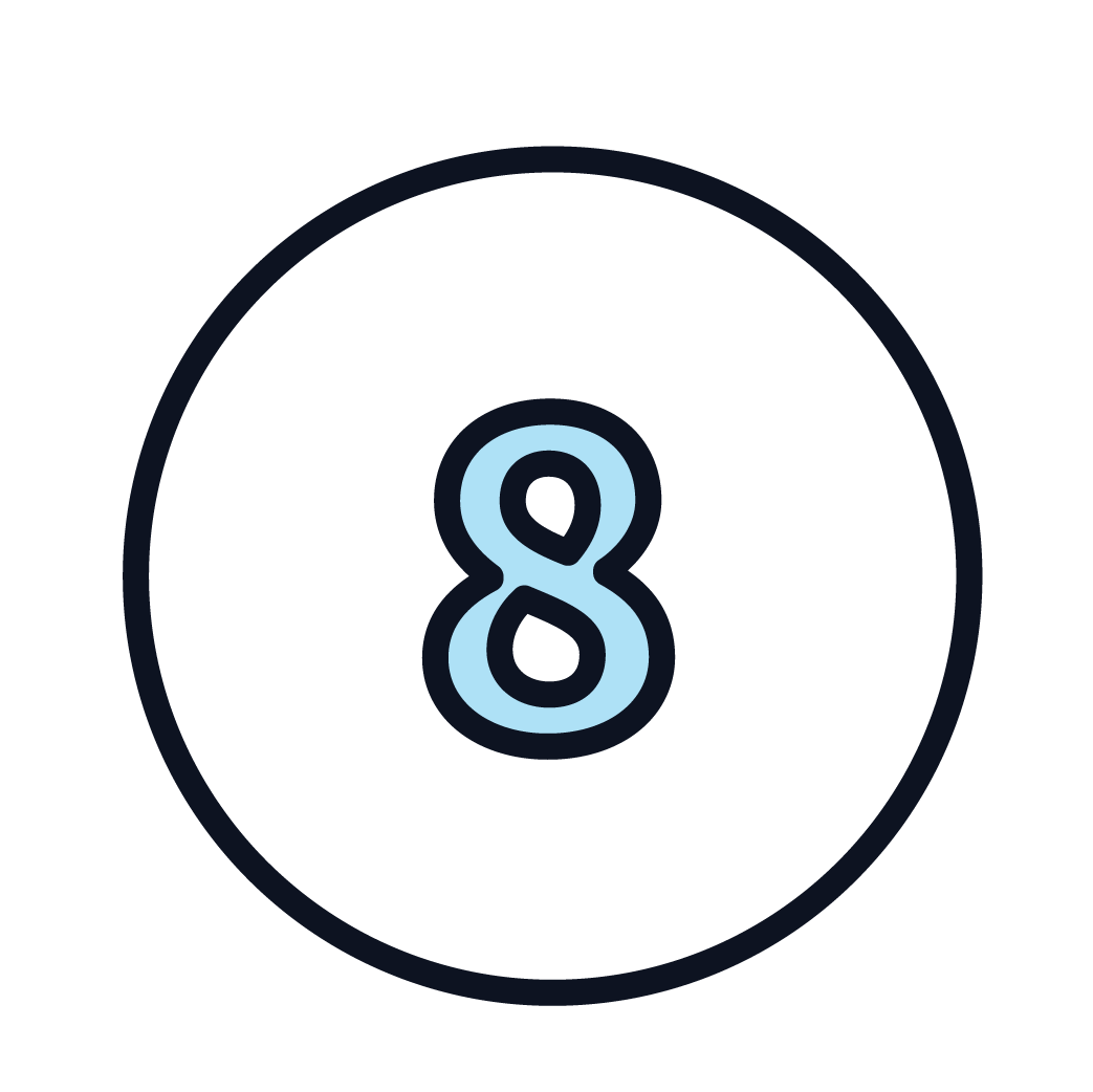 This is an icon of the number 8.