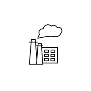 Smoke stack and factory